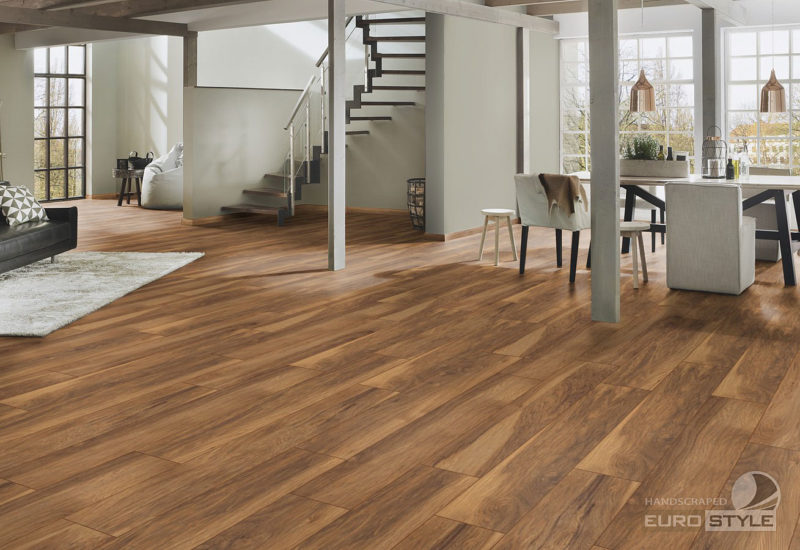 EUROSTYLE Appalachian Hickory Handscraped Laminate Flooring