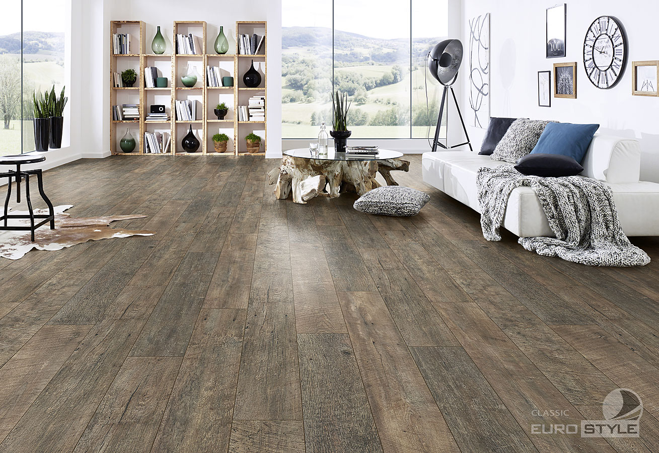 Classic laminate floors country barnwood eurostyle for Country style flooring