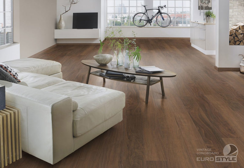 EUROSTYLE Empire Walnut Vintage Longboard Laminate Flooring
