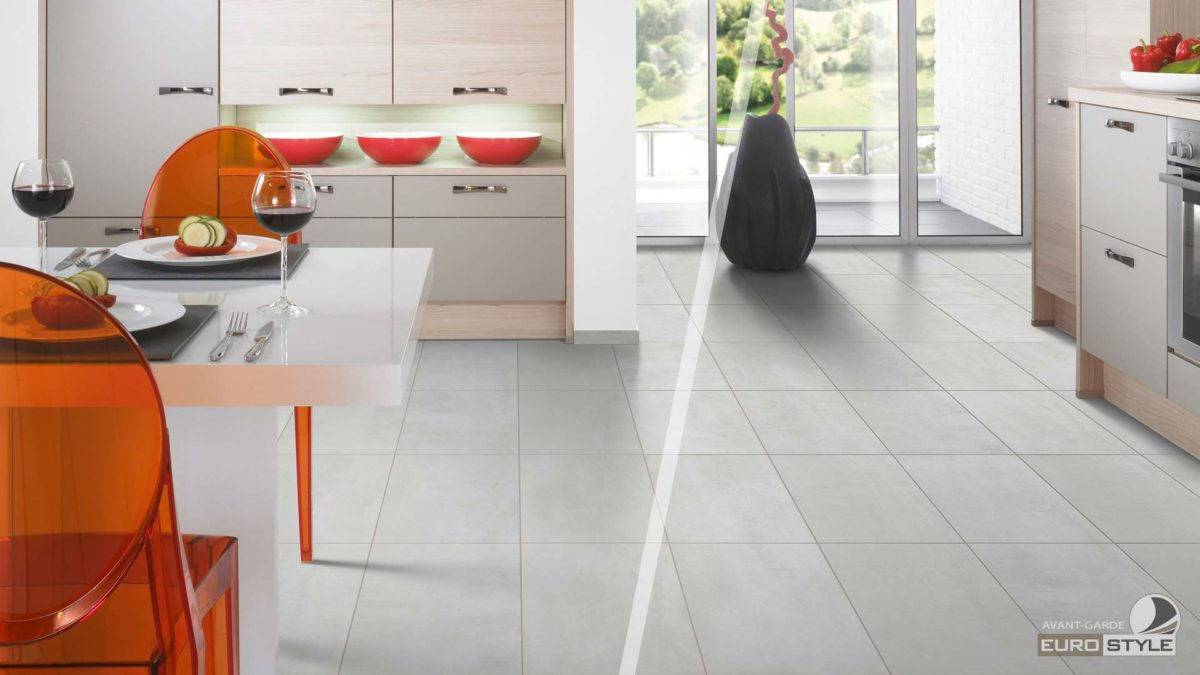 Vinyl click floor tiles