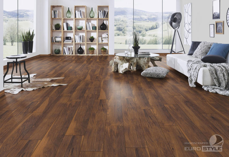 EUROSTYLE Red River Hickory Handscraped Laminate Flooring