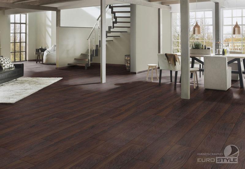 EUROSTYLE Smoky Mountain Hickory Handscraped Laminate Flooring